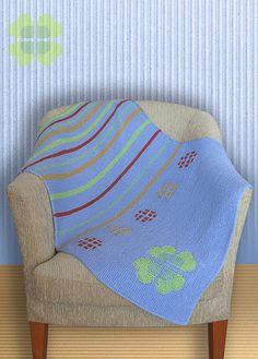 Garter Baby Blanket knitting pattern