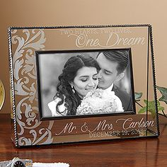 Beautiful engraved Wedding Frame - great wedding gift idea!