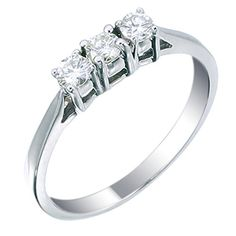IGI Certified White Gold 3 Stone Diamond Ring CT Size 8 >>> You can find out more details at the link of the image. 3 Stone Diamond Ring, 3 Stone Rings, Diamond Bands, Band Rings, Diamond Jewelry, Diamond Earrings, Best Engagement Rings, Vintage Engagement Rings, Promise Rings For Her