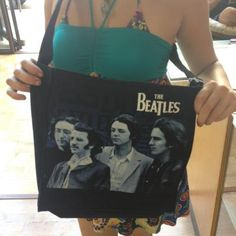 The Beatles handmade purse let it be background