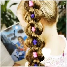 Little Girls Ponytail Hairstyles, Little Girl Ponytails, Baby Girl Hairstyles, Ball Hairstyles, Braided Hairstyles, Hair Style Vedio, Front Hair Styles, Long Hair Video, Toddler Hair