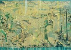 Jingle Jangle Morning by Bill Hammond for Sale - New Zealand Art Prints Art And Illustration, Artist Painting, Painting & Drawing, New Zealand Art, Nz Art, Social Art, Australian Art, Artists Like, Art Auction