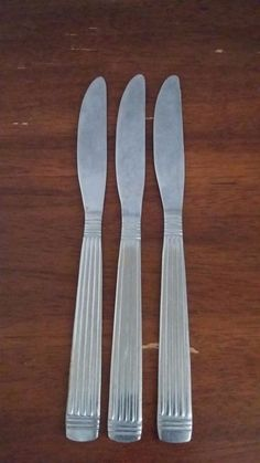 ROYAL HOUSEHOLD RHH3 Discontinued Stainless Steel Flatware Dinner Knife Set of 3 #RoyalHousehold