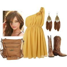 """""""Mustard & Mocha"""" by qtpiekelso on Polyvore"""
