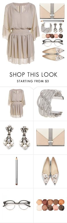 """""""Ootd 04.04.2017"""" by simona-altobelli ❤ liked on Polyvore featuring Nine West, Laura Mercier, Sophia Webster, NYX, StreetStyle, ootd, Tan and MyStyle"""