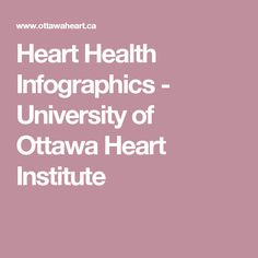 Heart Health Infographics - University of Ottawa Heart Institute