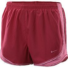 cute nike running shorts with gingham trim