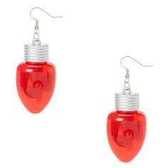 "<P>Light up like a Christmas tree this holiday season with these light up earrings. Shaped like red Christmas lights these drop earrings light up at the push of a button.</P><UL><LI>Red<LI>Light up<LI>2"" H<LI>Fish hook back<LI>Material: plastic/metal</LI></UL>"