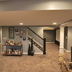 Basement Design Ideas, Pictures, Remodels and Decor @ Sharon Rogers See how the post could look good with a bit of detail??  :-)