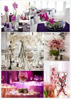 fleur mariage centre de table orchidee asie