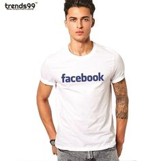 33d1fc6c8973bf Facebook fan men cotton printed t shirt