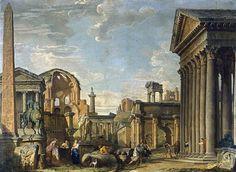 Giovanni Paolo Pannini (1691-1765): Architectural Capriccio, 1730.