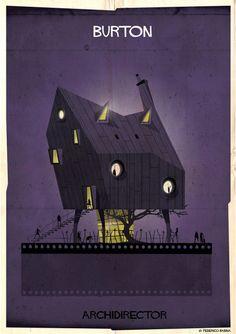 Zo zouden de huizen van regisseurs eruitzien in de stijl van hun films