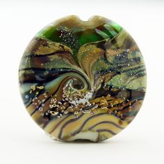 SRA Lampwork Glass Bead Rustic Organic by StoneDesignsbySheila