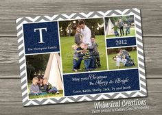 Christmas Photo Cards , Chevron Holiday Photo Card