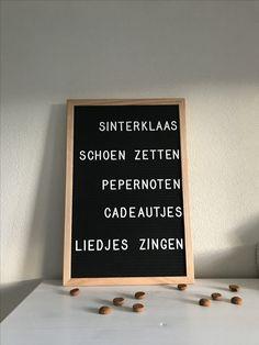 Ledr letterbord #sinterklaas