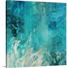 Great Big Canvas Aqua Falls by Jodi Maas Wall Art on Gallery Wrapped Canvas