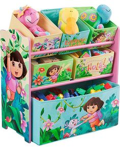 Organize your child's room with this Dora the Explorer shelving unit. Click above to buy one!
