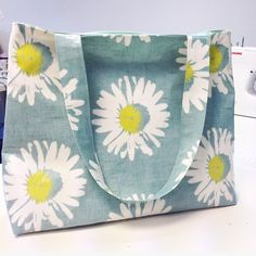 Yesterday I was experimenting with #sewing oilcloth #bags. This one is a sample so I could work out the pattern but I'm really looking forward to making some with oilcloth #fabric featuring my own #illustrations! Ceridwen Hazelchild Design