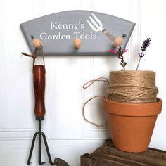 Garden Tool Peg Personalised Gift Peg Hooks, Garden Tools, Personalized Gifts, Customized Gifts, Yard Tools, Personalised Gifts