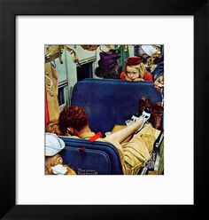 """""""Travel Experience"""", August 12,1944 Giclee Print by Norman Rockwell at Art.com"""