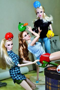 Fashion Royalty dolls with angry birds