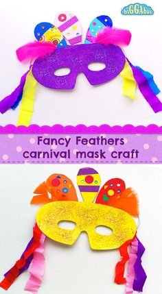 Get your little ones into the carnival mood by making this glittery mask with fancy decorated paper feathers and lots of colourful streamers! The Effective Pictures We Offer You About diy carnival par Carnival Tent, Carnival Crafts, Carnival Outfits, Carnival Masks, Carnival Costumes, Carnival Dress, Carnival Makeup, Start Of Lent, Diy For Kids
