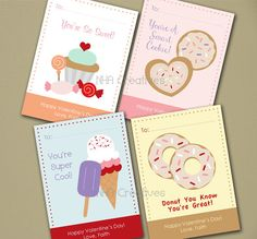 These darling downloadable Valentine's cards are perfect for your child to pass out to his/her friends in their play group or class. #Valentines