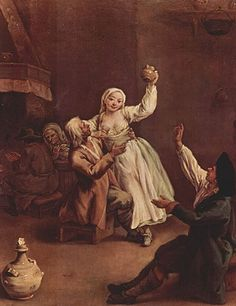 tavern wench 18th century | The Hilarious Pair (1740) by Pietro Longhi in the Museo del '700 ...