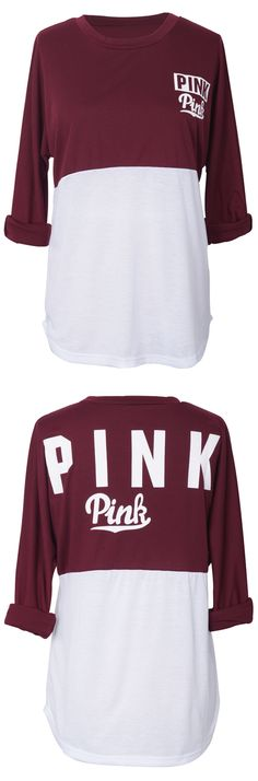$19.99 Only with free shipping Now! This love pink top is detailed with back letter printing&splicing fabric! Your cool look essentials are all ready here! Select one for your holiday outing at Cupshe.com !