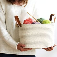 Our top DIY project of the year is this no-sew rope coil basket! One of our faves, too. We're sharing all of our favorite DIYs of 2015 on the blog today. Thanks for all the support this year  -Melissa and Sara