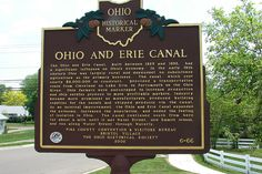 Ohio and Erie Canal Marker, Waverly, OH located at the entrance to Bristol Village Retirement Village