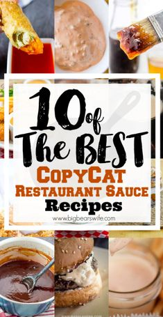 10 of the best CopyCat Restaurant Sauce Recipes - While we can't argue that a lot of restaurant food is amazing, would be really love them as much if they didn't serve our favorite sauces? From Chick-Fil-A Sauce to dip our chicken nuggets in to Sauce on B Dipping Sauces For Chicken, Chicken Sauce Recipes, Barbecue Sauce Recipes, Sauce For Chicken, Chick Fil A Sauce, Chic Fil A Sauce Recipe, Copycat Bbq Sauce Recipe, Cracker Barrel Copycat Recipes, Big Tasty