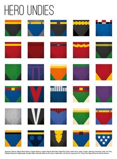 Superhero Underwear - Hero Undies 12x17 print $19.99 | via designdifferent