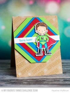 Super Boy, Square Frames STAX Die-namics, Super Boy Die-namics - Heather Hoffman #mftstamps