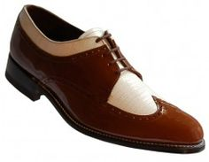 #brown and #white #patent #leather #shoes by #stacybalwin