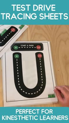 A great hands on learning activity for young kids! Number and shape tracing mats for preschool and kindergarten! Teaches the correct letter formation with a fun test drive theme! Preschool & Kindergarten students will love practicing the correct letter formation with cars and go & stop signs! So much fun! Letter E Activities, English Activities For Kids, Preschool Learning Activities, Preschool Activities, Hands On Learning Kindergarten, Learning Numbers Preschool, Preschool Kindergarten, English Kindergarten, E Learning