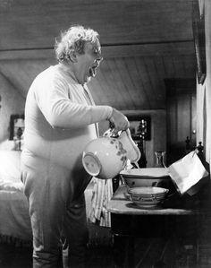 "Charles Laughton en ""El Déspota"" (Hobson's Choice), 1954"