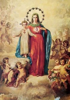Religious Pictures, Religious Icons, Religious Art, Blessed Mother Mary, Blessed Virgin Mary, Mother Teresa, Immaculée Conception, Jesus E Maria, Images Of Mary