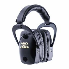 Pro Ears - Pro Slim Gold - Electronic Hearing Protection and Amplification - NRR 28 - Ear Muffs - Black by Pro Ears. Pro Ears - Pro Slim Gold - Electronic Hearing Protection and Amplification - NRR 28 - Ear Muffs - Black. Ear Protection For Shooting, Indoor Shooting Range, Thing 1, Noise Reduction, Earmuffs, Black Models, At Home Gym, Audiophile