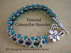 #JewelryPattern - This bracelet would make the perfect addition to any outfit, dressy or casual! Click the image to get the pattern and start making your own!