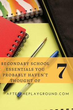 Is your child making the transition to secondary or high school this year. Here are the things that they actually need. They are also make great ideas for Year 6 leavers gifts. After School, Back To School, High School, Secondary School, Primary School, School Leavers, School Terms, Kids Moves, Gifted Education