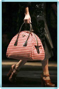 "Presenting the Prada Fall 2013 Collection. Miuccia Prada has described this collection as ""raw elegance"". The Fall 2013 Collection presented a variety of Prada Bag, Prada Handbags, Luxury Handbags, Purses And Handbags, Leather Handbags, Designer Handbags, Beautiful Bags, Mannequins, My Bags"