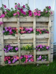Wood Pallet Flower Box