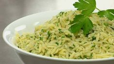 Lemon Parmesan Orzo: kosher salt (for the cooking water), 2 cups orzo pasta, 1/2 cup Italian flat-leaf parsley, 1/8 cup mint, 1/2 cup green onions (or chives), 3/4 cup Parmigiano-Reggiano, 2 tbsp unsalted butter, 2 tsp lemon zest, 1 tsp kosher salt, 1/2 tsp freshly ground black pepper  and 2 tbsp extra-virgin olive oil.
