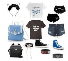 """""""Endie- 4"""" by endie-demon ❤ liked on Polyvore featuring Usagi, 3x1 and Converse"""