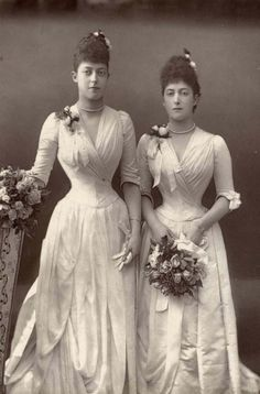 The Princess Victoria and The Princess Maud (later The Queen of Norway), daughters of King Edward VII.
