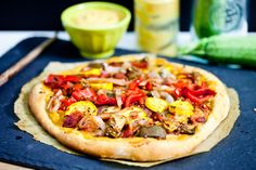 Vegan Chickpea Cheese Sauce -canned garbanzo, nutritional yeast, miso   Part of pizza recipe which is not gluten free crust