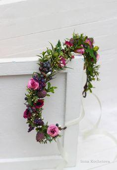 Floral Wedding, Wedding Flowers, Floral Headbands, Floral Crowns, Flower Girl Crown, Pink Rose Flower, Flower Girl Hairstyles, Hair Wreaths, Flower Headpiece