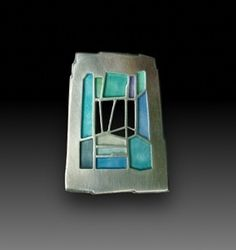 Pin. Sterling Silver, Enamel. Carly Wright